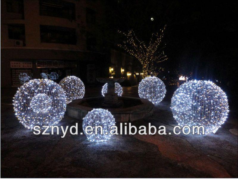 Fashionable umbrella ball christmas tree white outdoor for Outdoor christmas balls that light up