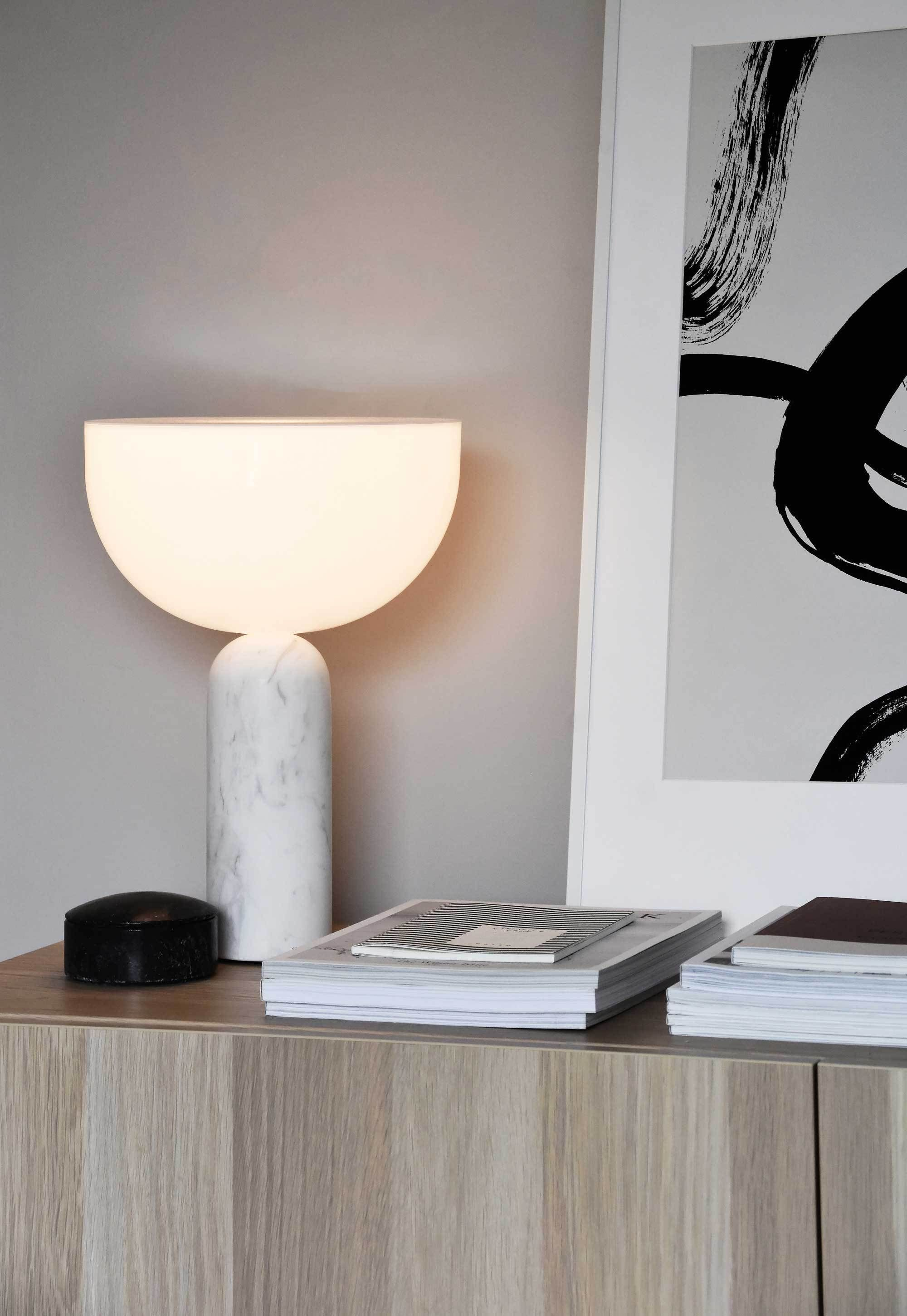 The New Works Kizu Table Lamp Styled Two Ways These Four Walls Table Lamps For Bedroom Lamps Living Room Table Lamp #small #living #room #table #lamps