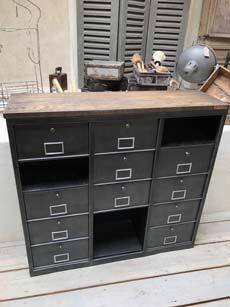Meubles De Rangement Industriel Metal Bois Meubles De Rangement Mobilier De Salon Rangement