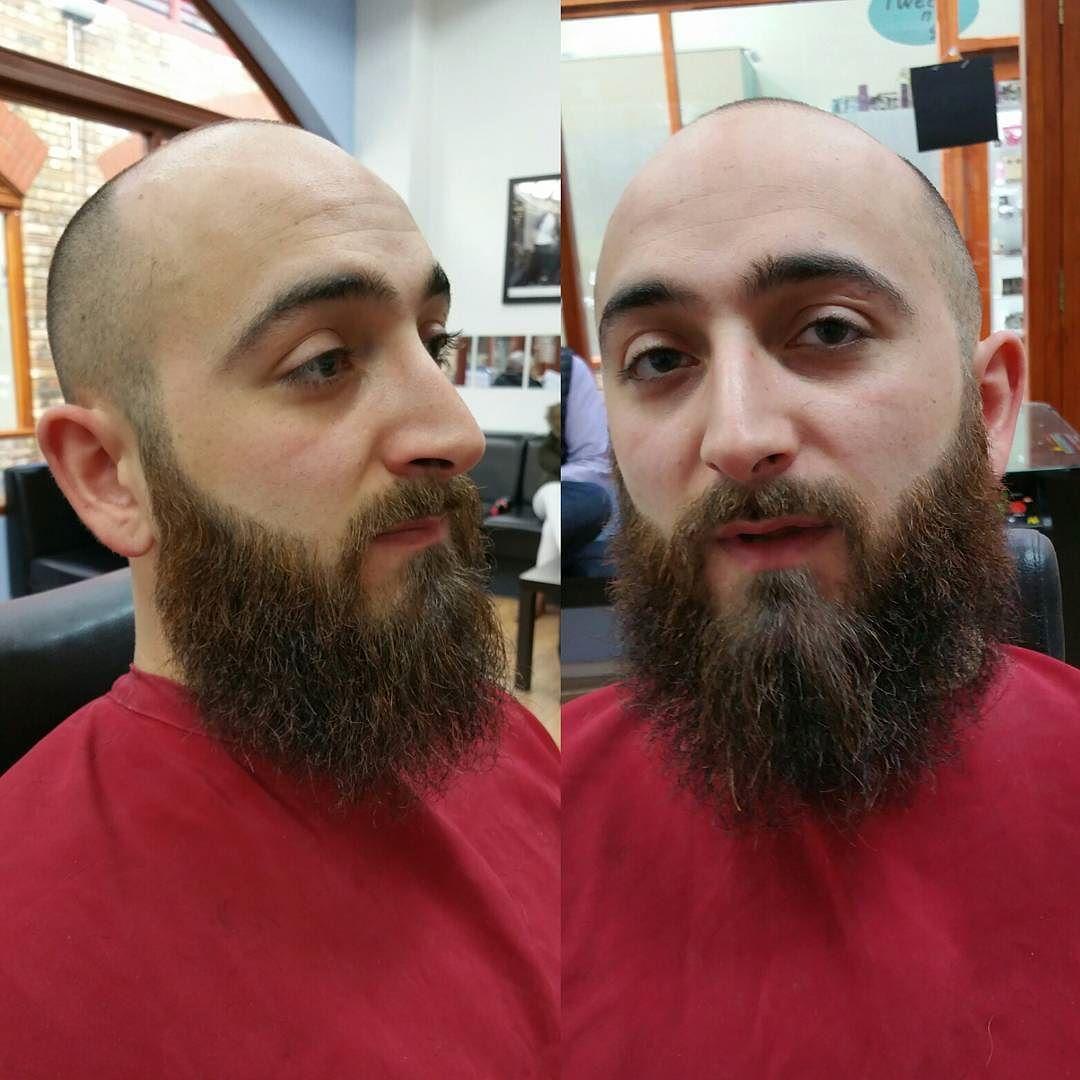 #proper #beard #beardstyle #beardlife #beardgang #beardedmen #beardgrooming #beards #sharp #fresh #lines #grizzlybeards #barberlife #barberforlife #tattooedbarber #southwoodford #Demesbarbershop by cutthroatdeme