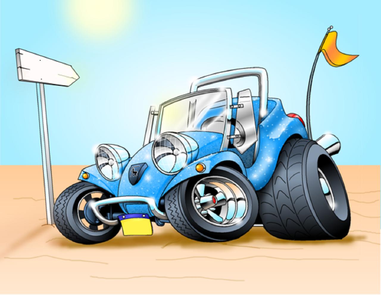 Pin By Darren Kopp On Car Toon 2 Cartoon Car Drawing Car Cartoon Vw Dune Buggy