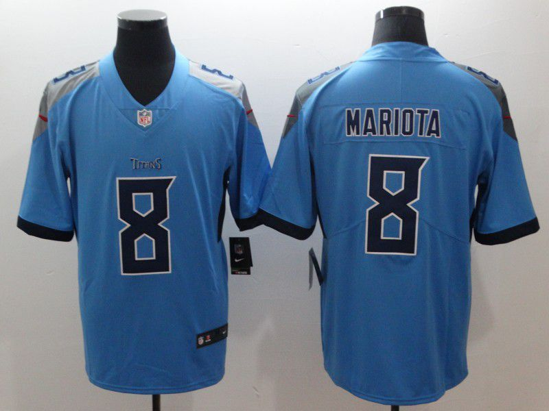Men Tennessee Titans 8 Mariota Light Blue Nike Vapor Untouchable Limited  NFL Jerseys 257c8750d