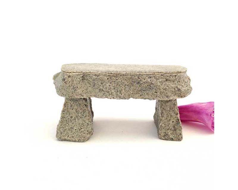 Miniature garden bench, stone bench, fairy garden bench, dollhouse bench, carved stone bench, enchanted garden, woodland terrarium, by FairyDustedMiniature on Etsy https://www.etsy.com/listing/259936101/miniature-garden-bench-stone-bench-fairy