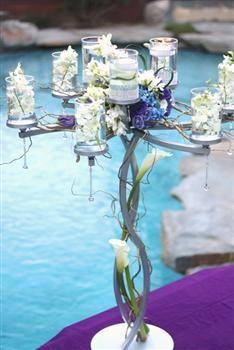 April Showers Wedding Centerpiece Stand