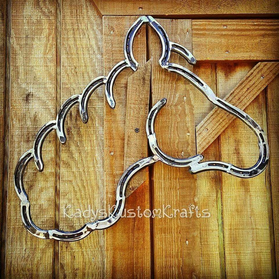 Horseshoe Head Horse Wall Art Horseshoe Decor Welding Art