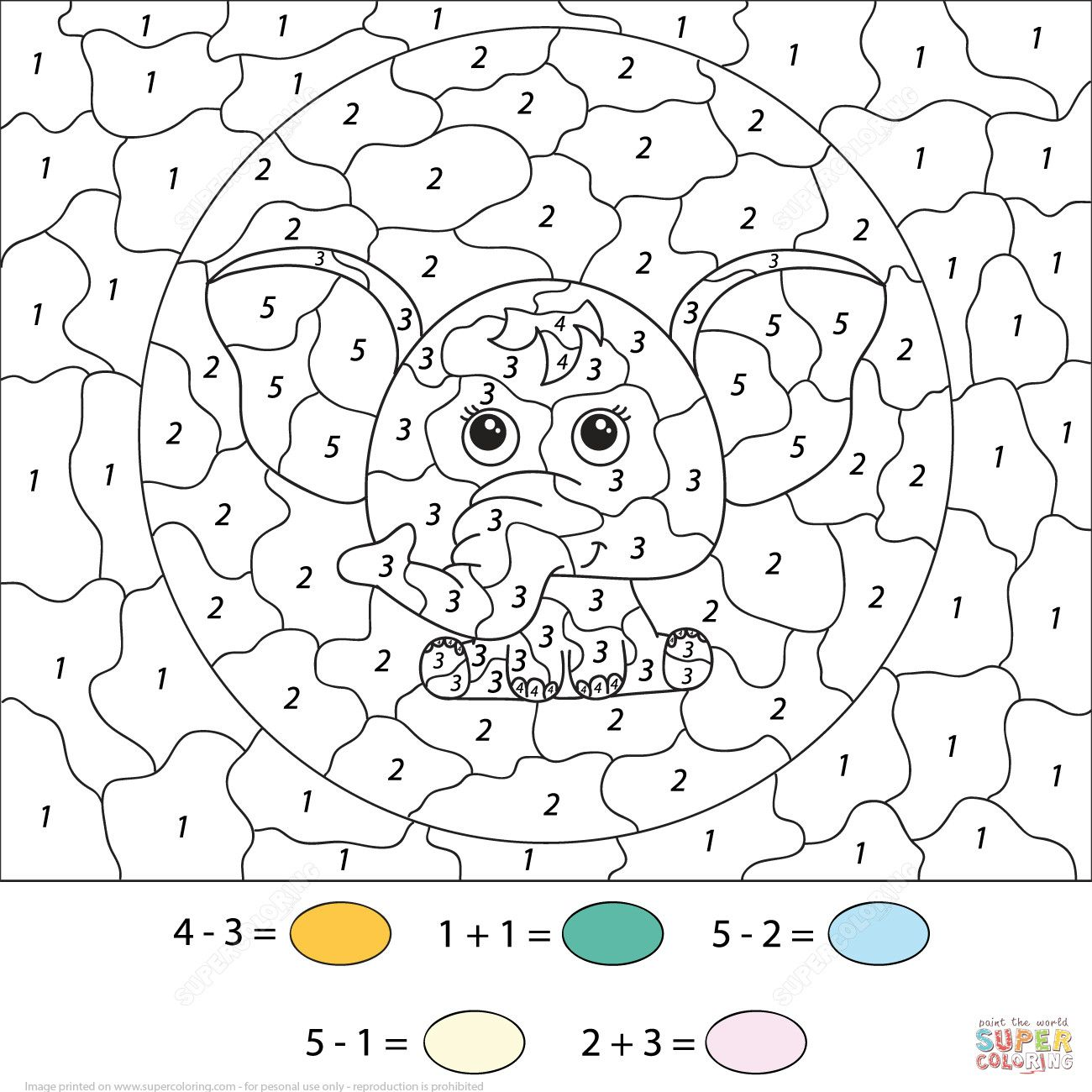 Color By Number Addition Worksheet Free Printables