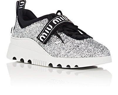 9bbf00236e Miu Miu Logo-Strap Glitter Platform Sneakers - Sneakers - 505533515 ...
