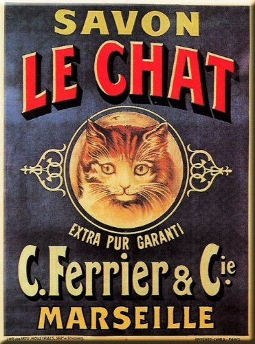 Plaque Metal 20x15cm Pub Retro Savon Le Chat Amazon Fr Cuisine