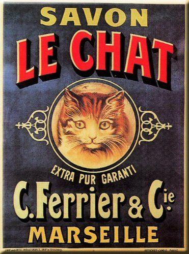 Plaque metal 20x15cm pub retro savon le chat cuisine maison plaque metal - Plaque publicitaire vintage ...