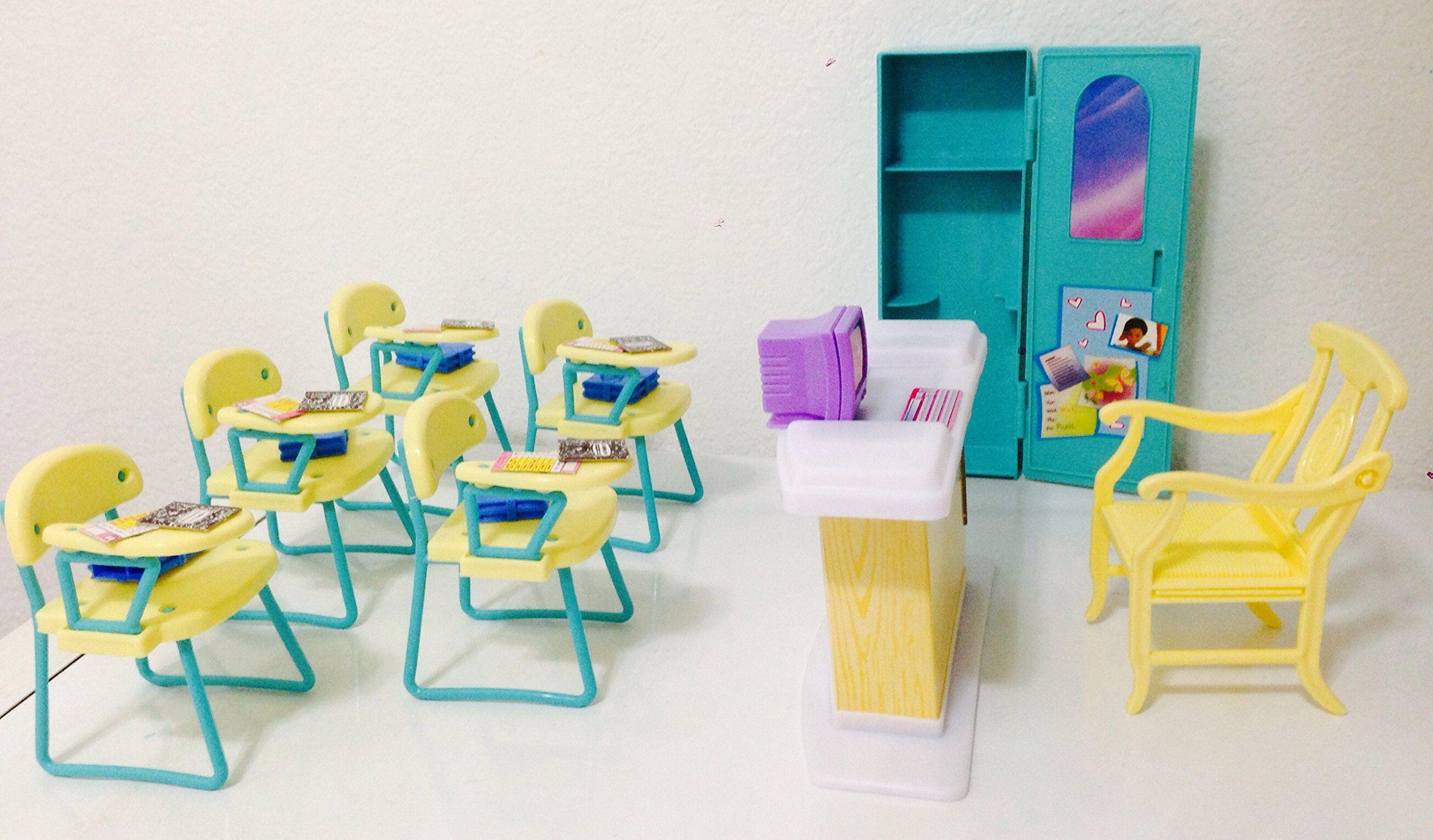 barbie size dollhouse furniture set. Amazon.com: Barbie Size Dollhouse Furniture - Classroom Play Set: Toys \u0026 Games Set U