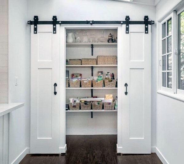 Top 40 Best Kitchen Pantry Door Ideas - Storage Closet Designs