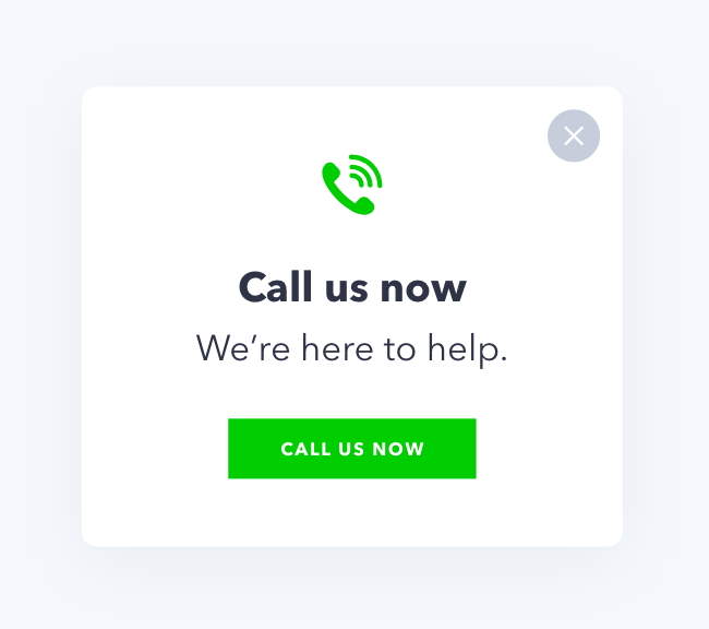 Increase Phone Calls Pop Up Conversion Optimization Display Ads
