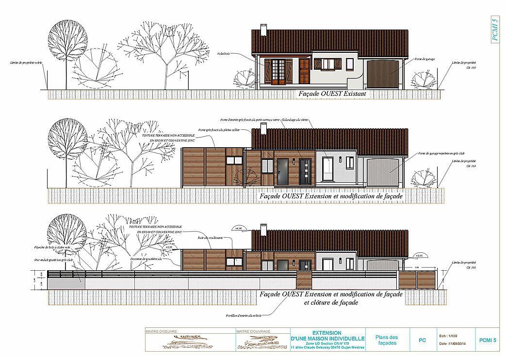 Exemple Et Plan Pour Faire Un Permis De Construire De Moins De 170 Permis De Construire Construire Plan Maison 3d