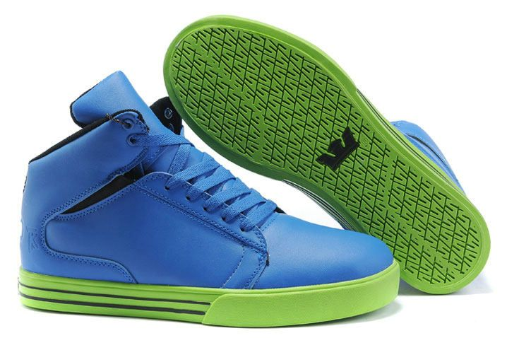 488910a708d6 Supra TK Society Mid Mens Shoes In Blue Green  56.98