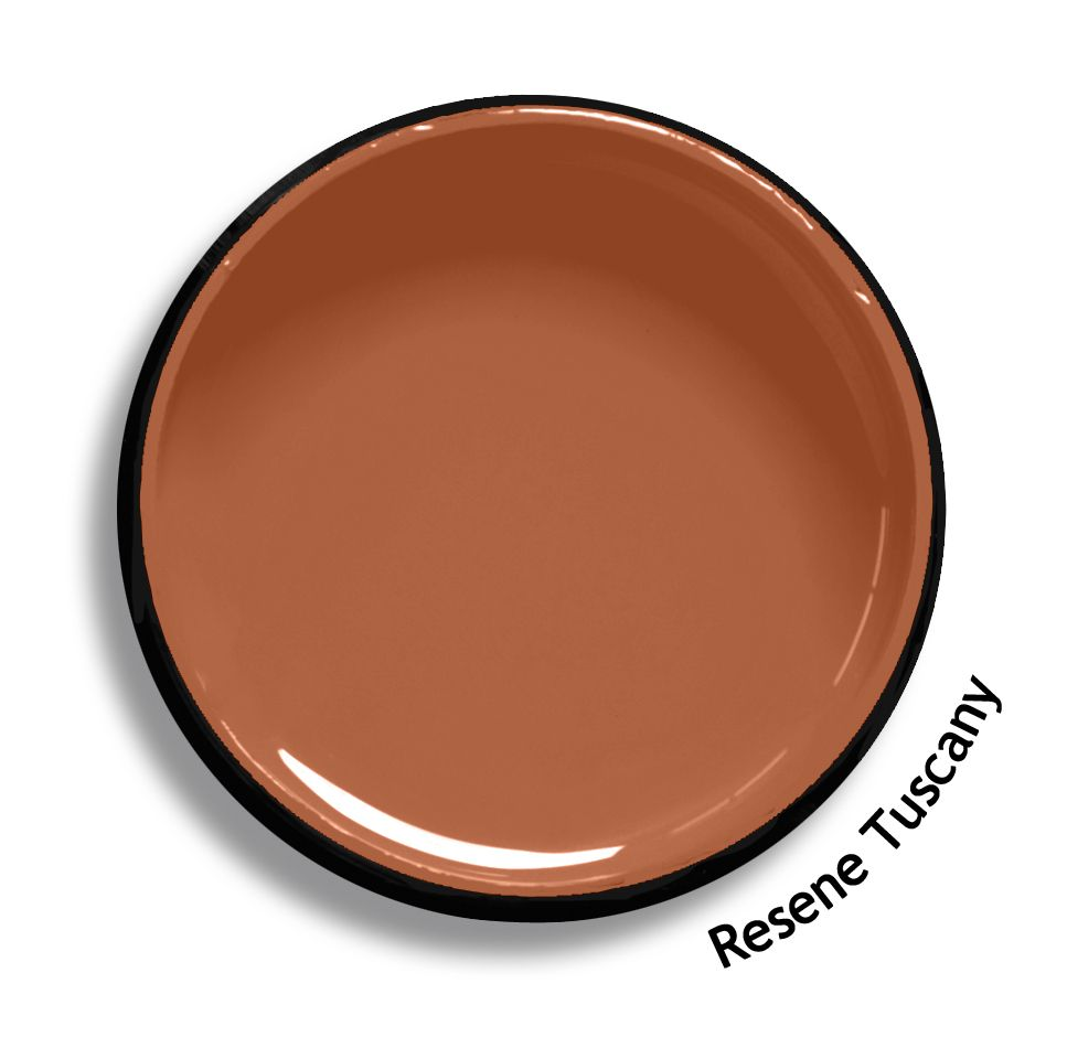 Resene Tuscany is a dusty orange raw terracotta. From the Resene Multifinish colour collection. Try a Resene testpot or view a physical sample at your Resene ColorShop or Reseller before making your final colour choice. www.resene.co.nz