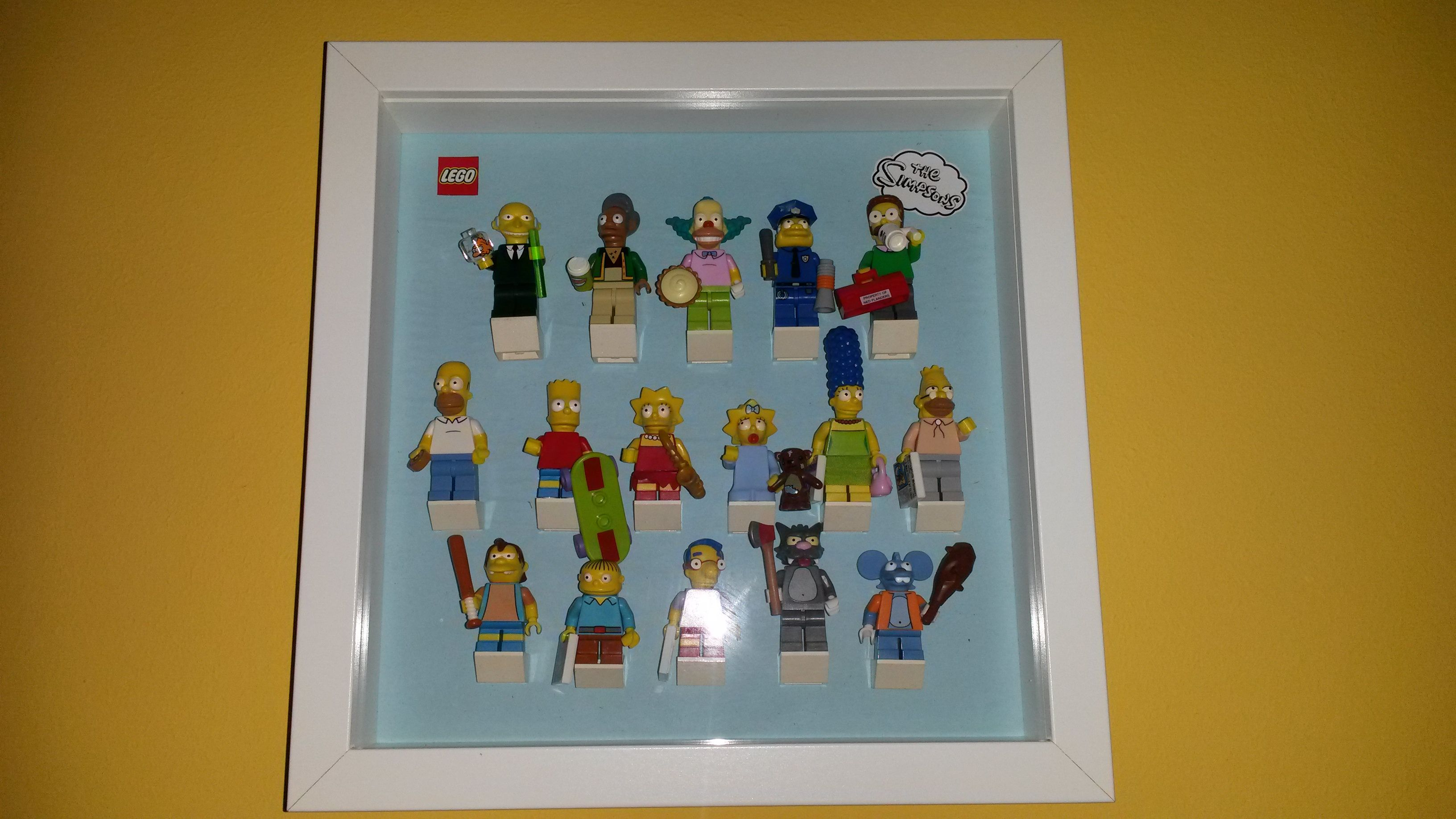 Display Case Minifigures Lego Simpson in Ribba Frame Ikea | Lego ...