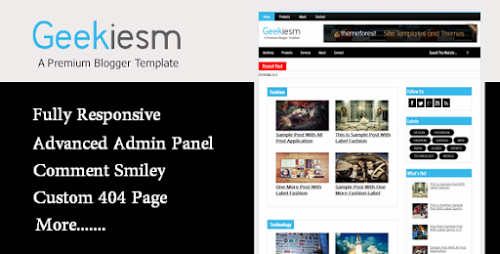 Download geekiesm premium responsive blogger template themefx download geekiesm premium responsive blogger template maxwellsz