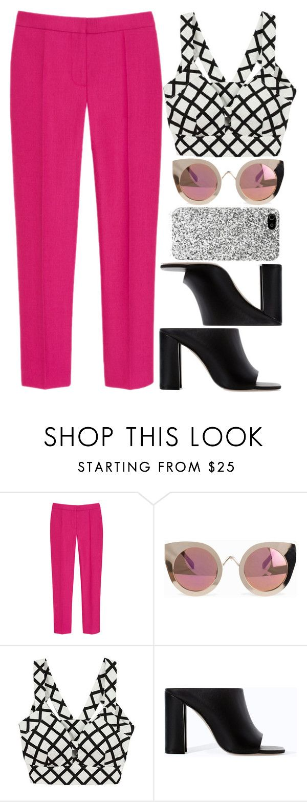 """""""KUSN"""" by krizan ❤ liked on Polyvore featuring Mulberry, Quay, Zara and Yves Saint Laurent"""
