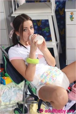 Adult baby butt plug and nappied photo 623