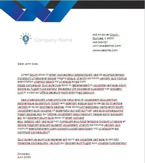 Professional Company Letterhead Template MS Word Company Templates