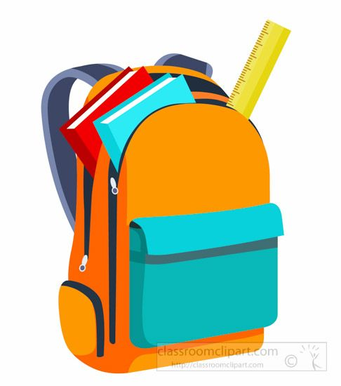 school books and scale inside open backpack back to school clipart rh pinterest com free clipart backpack backpack clip art printables