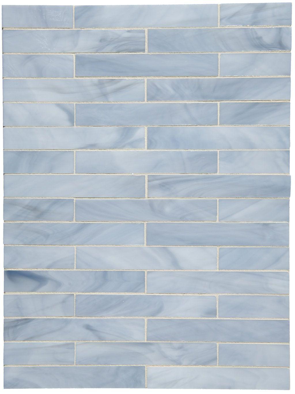 1 X 6 Staggered Mosaic Products Waterworks In Splash Waterworks Blue Bathroom Tile Modern Beach Decor