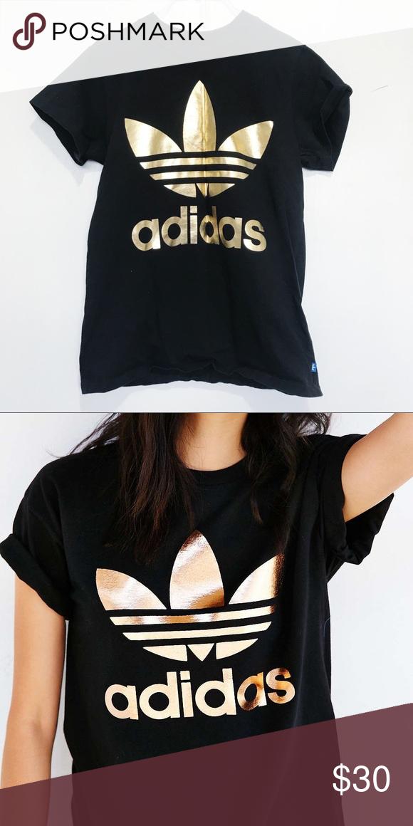 adidas rose gold top