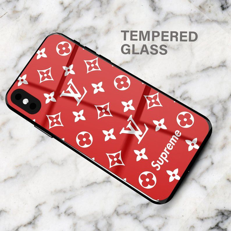 Louis Vuitton LV Supreme Red Iphone Case XS Max iPhone XR   Etsy ...