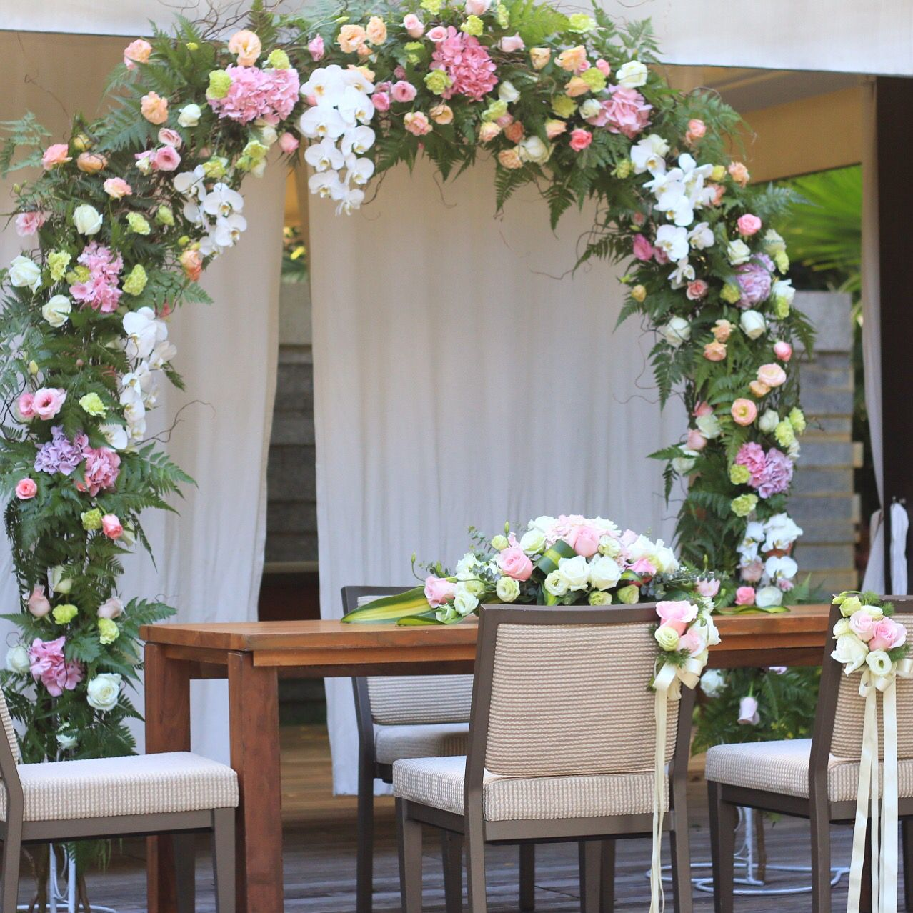 Wedding arch flower design