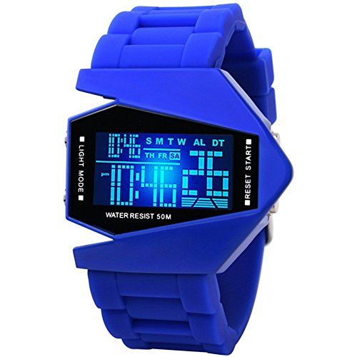 Stealth Fighter LED Display Waterproof Watch Gifts For Teen Boys Birthday Teens