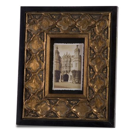 st petersburg frame wood picture frame with quatrefoil detail
