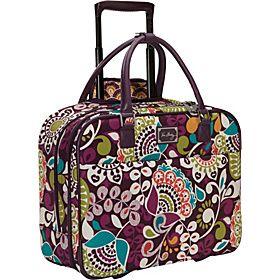 Vera Bradley Rolling Work Bag Plum Crazy Via Ebags