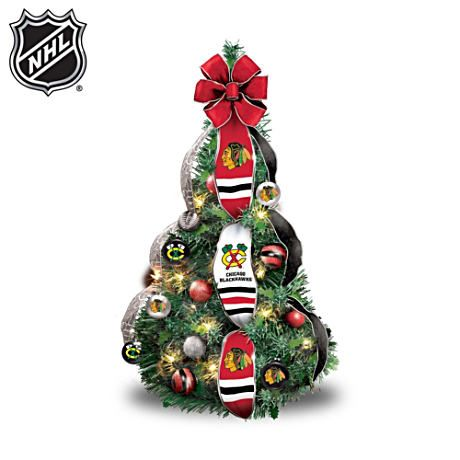 blackhawks christmas tree - Blackhawks Christmas