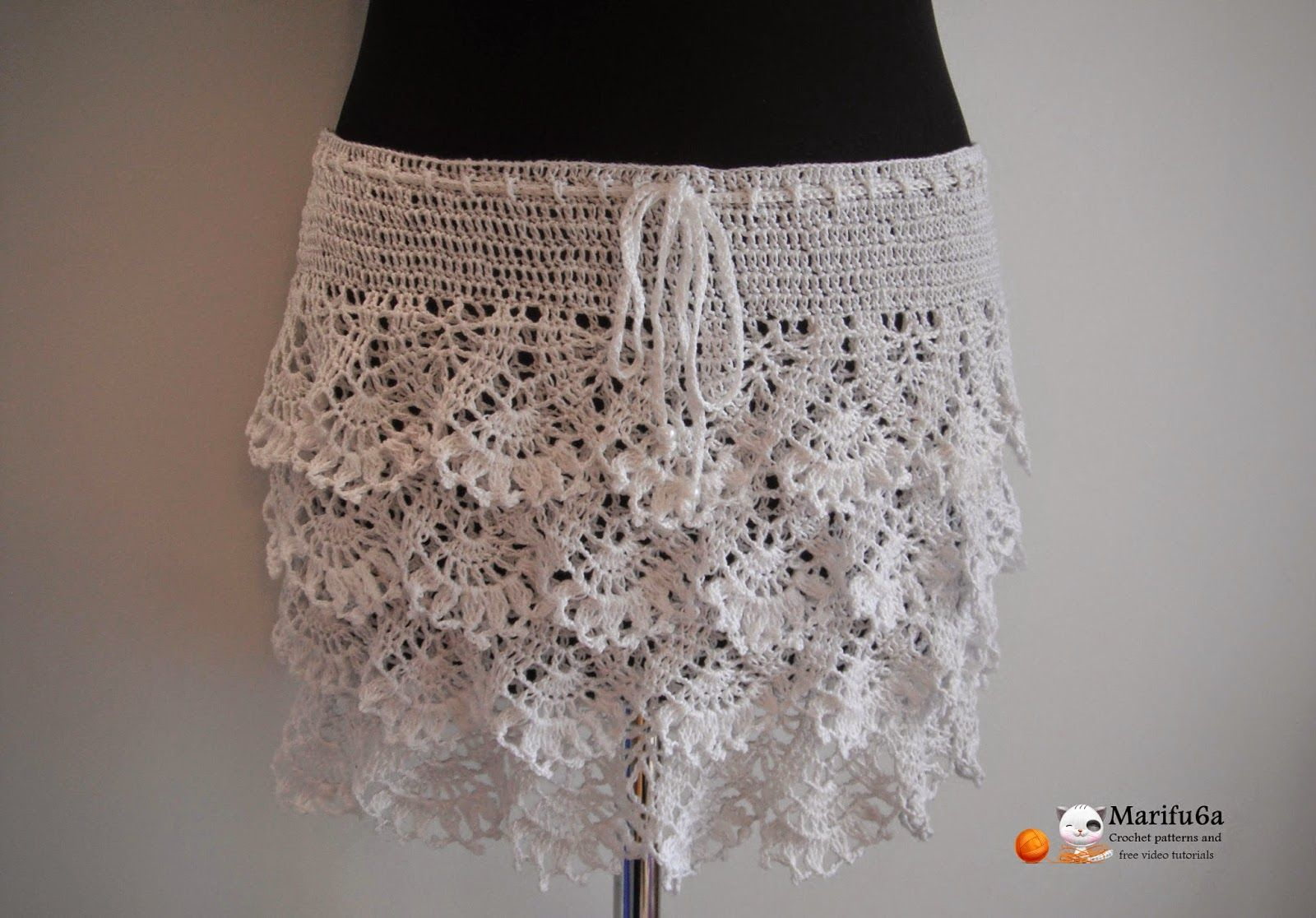 Free crochet patterns and video tutorials: how to crochet ruffle ...