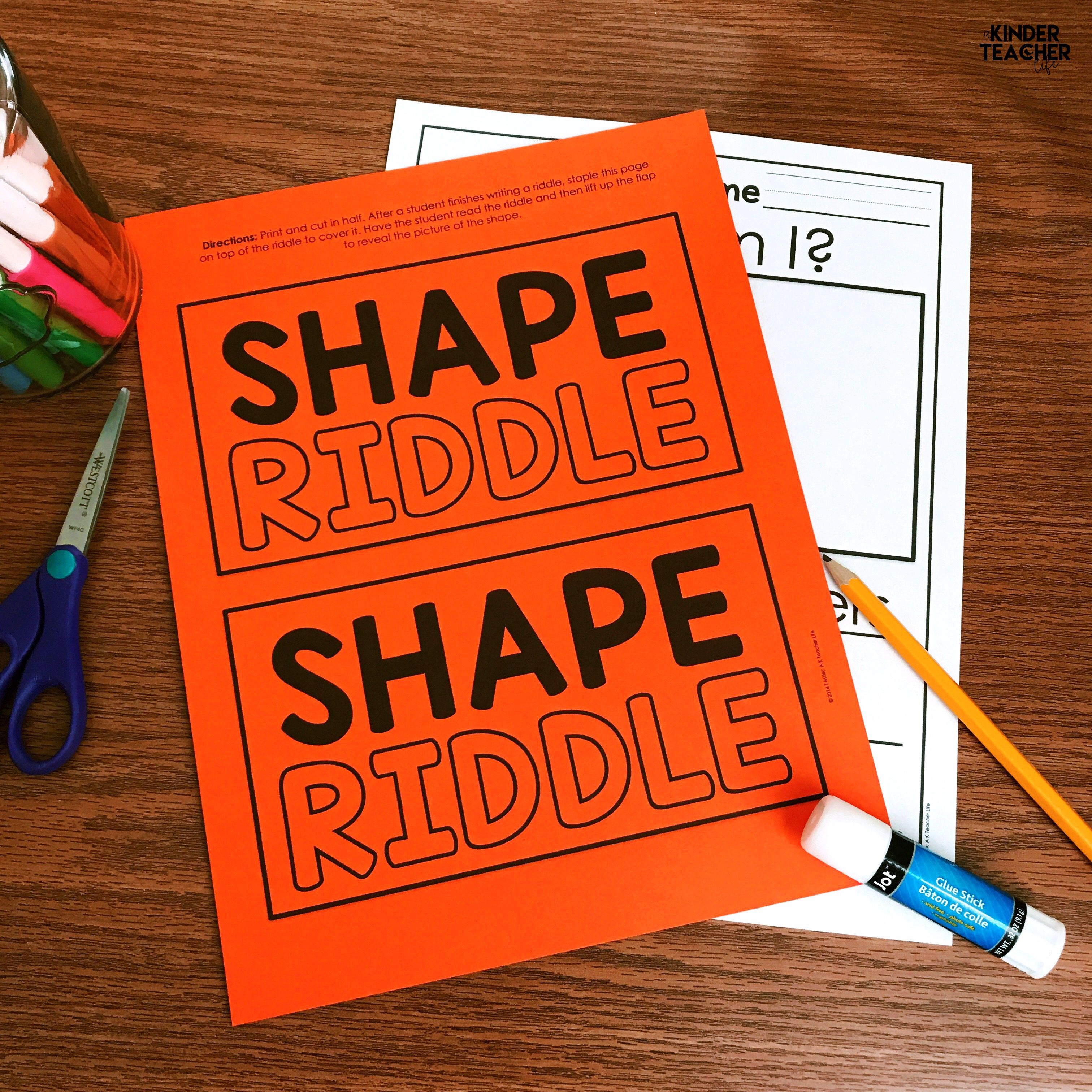 2d And 3d Shape Riddles Free Printables Included