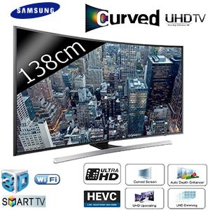 tv led 55 138 cm incurv uhd 4k smart tv 3d 1400 pqi samsung ue55ju7500 tv. Black Bedroom Furniture Sets. Home Design Ideas
