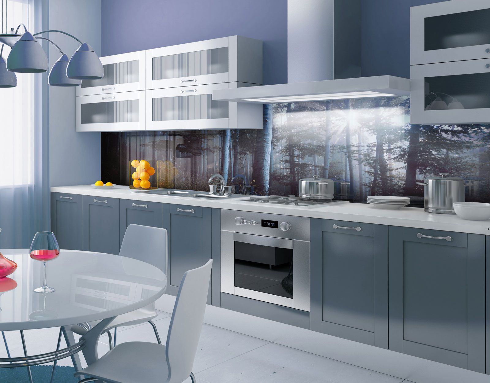 fairy tale forest printed acrylic kitchen splashback in. Black Bedroom Furniture Sets. Home Design Ideas