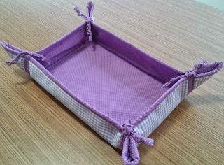 d'incanto: cestas de tecido retangular, tamanho médio