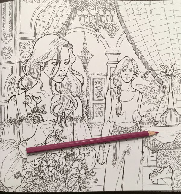 24 A Court Of Thorns And Roses Coloring Book In 2020 Coloring