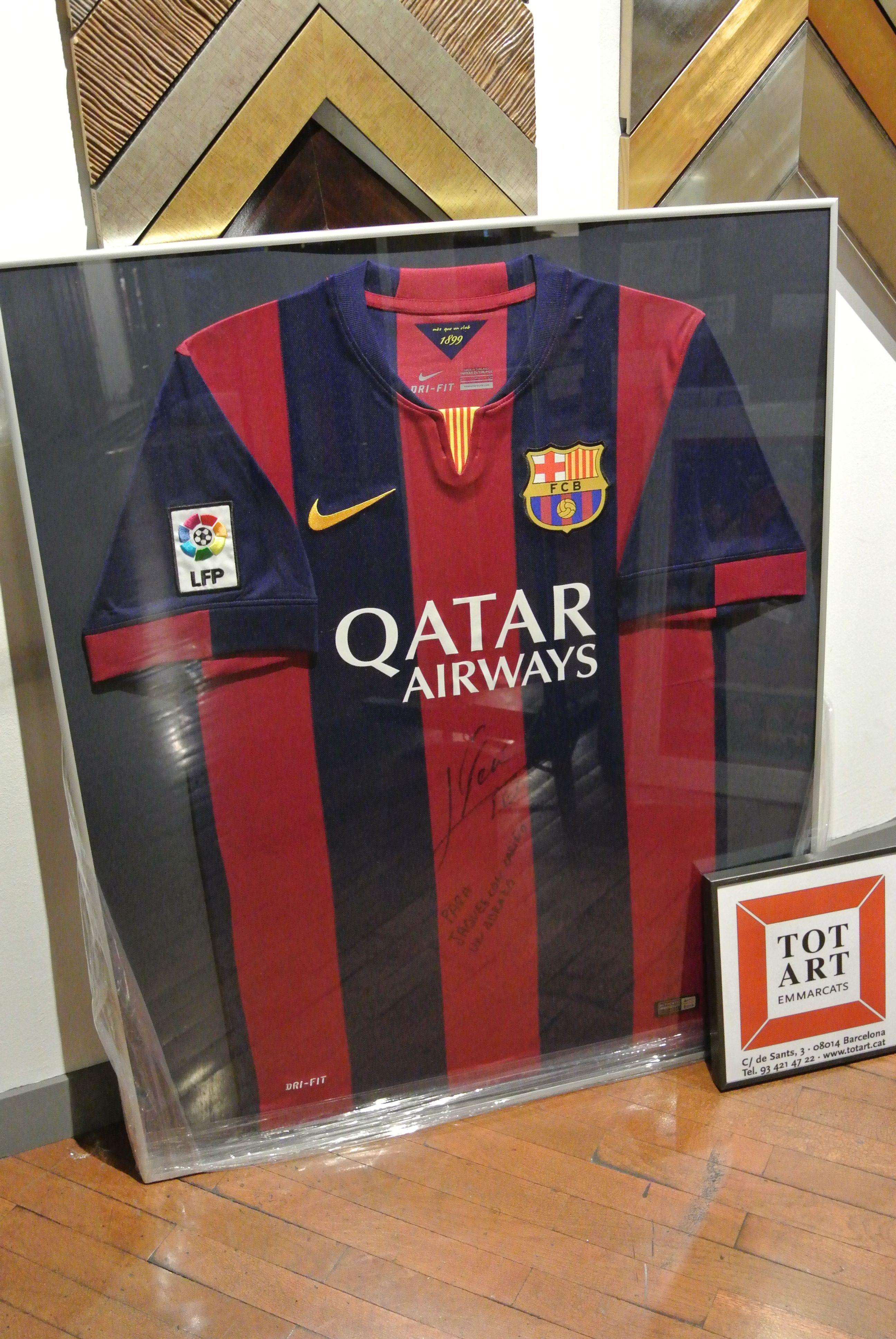 marco para camiseta FCBarcelona #fansfcb #jersey #enmarcar #totart ...