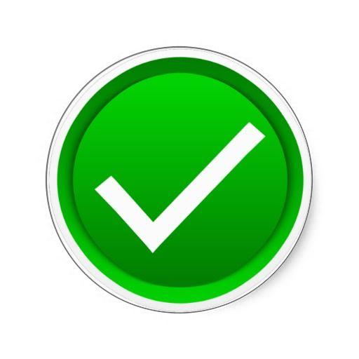 Green Check Mark Symbol Classic Round Sticker Zazzle Com In 2021 Funny Emoji Faces Symbols Sticker Design