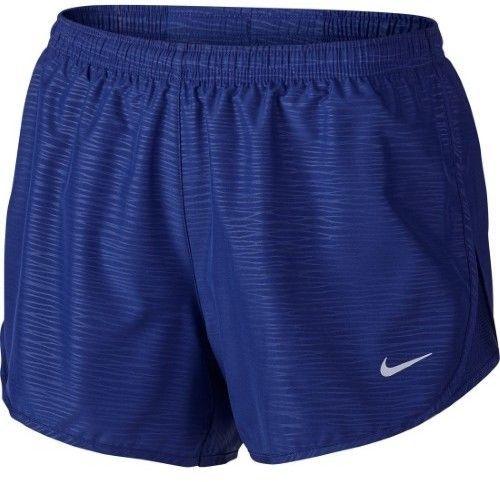 Nike Women's Dri-Fit Modern Embossed Tempo Running Shorts-Deep Royal Blue -Large