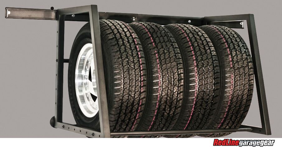 WallMounted Tire Rack for Your Garage Tire storage