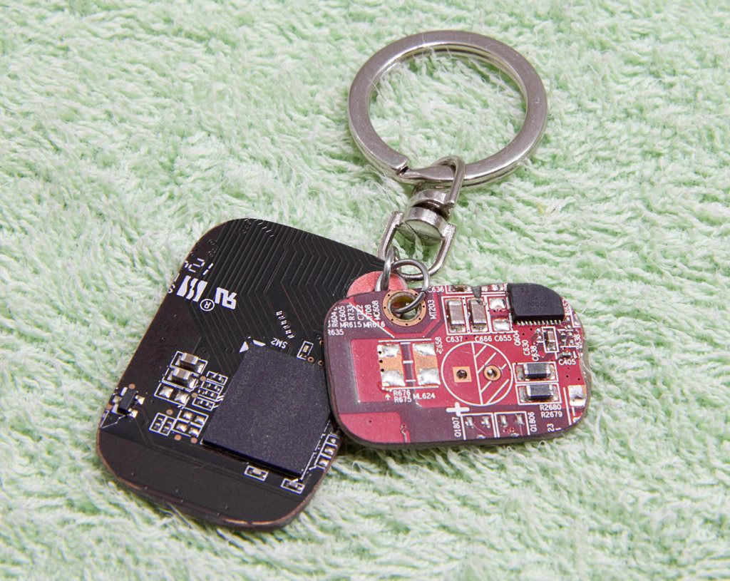 Cool mens keyrings recycled computer parts geek gifts for
