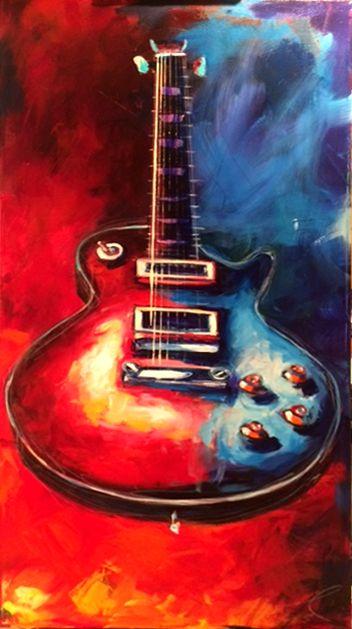 Roy Laws Gibson Les Paul. 24 x 48 Acrylic Painting on Canvas. http://www.roylaws.com/#!1959-Les-Paul---The-Standard/zoom/crbp/i116pj