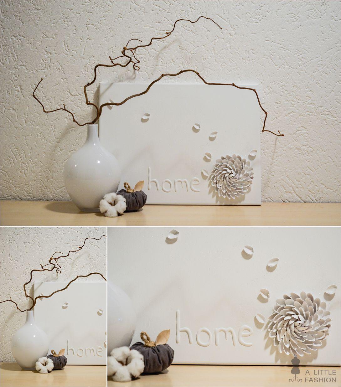 Herbst-Dekoration auf vollen Touren… Bild mit Pistazienschalen (DIY), Stoff-Kürbis (A Little Fashion), Glasvase, Zweige, Baumwollblüte #wohnen #einrichtung #ideen #deko #möbel #schlafzimmer #inspiration #wohnzimmer #living #room #kitchen #filizity