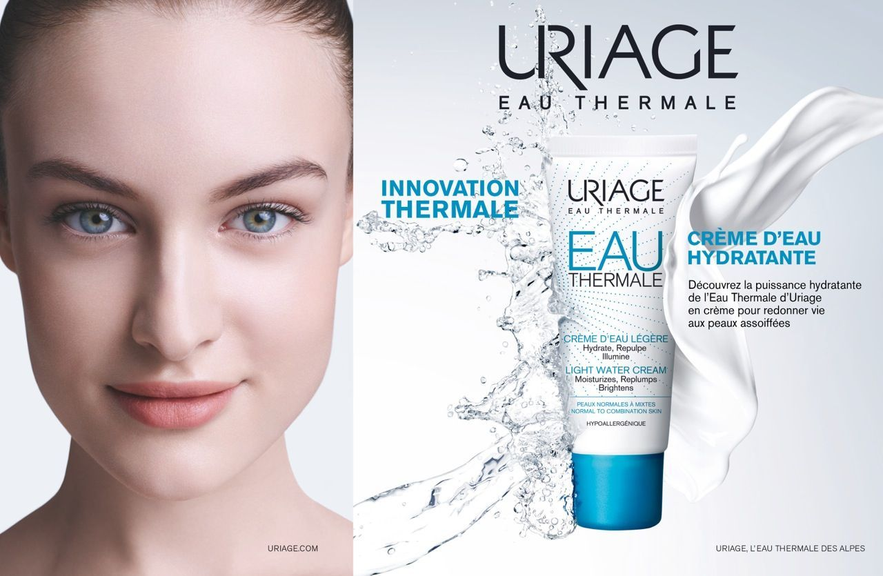 URIAGE | EAU THERMALE | Banner design inspiration, Skin care, Print ads