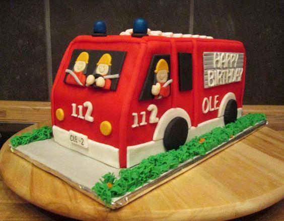 Feuerwehr Kuchen Basteln Pinterest Kuchen Feuerwehr Kuchen