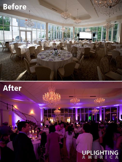 Uplighting America Before And After At Ashton
