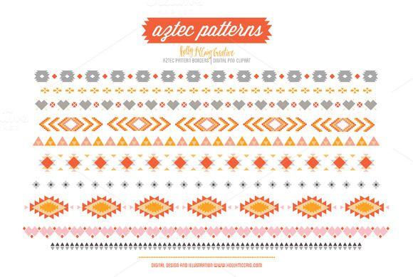 Aztec Tribal Borders Png Clipart Clip Art Clip Art Borders Digital Clip Art